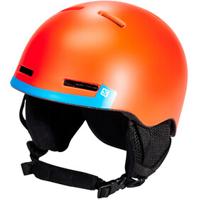 Salomon Grom Helm Kinderen, fluo orange/blue